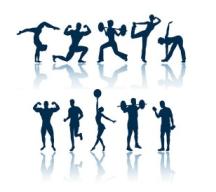 Fitness training visual